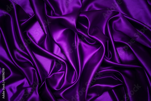 Fotobehang Stof Abstract purple drapery cloth, Wave of dark violet fabric background, Pattern and detail grooved fabric for background and abstract
