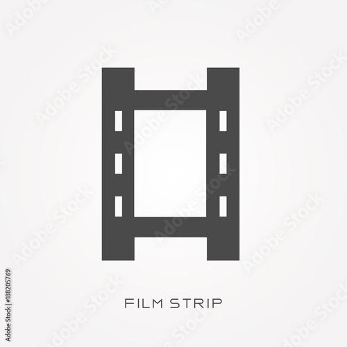 Plagát  Silhouette icon film strip
