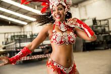 Brazilian Woman Celebrating Ca...
