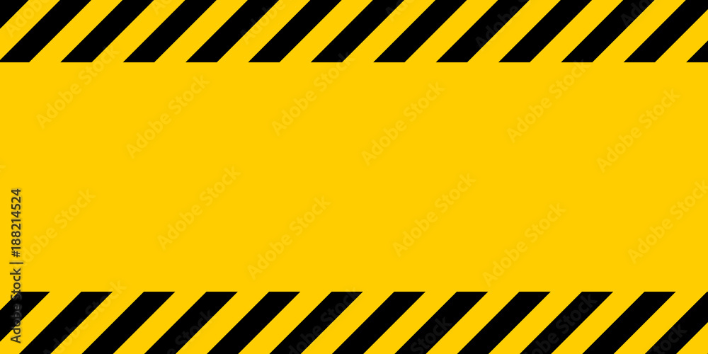 Fototapety, obrazy: Black and yellow warning line striped rectangular background, yellow and black stripes on the diagonal