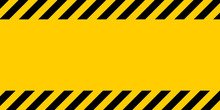 Black And Yellow Warning Line ...