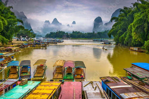 Printed kitchen splashbacks River Karst Mountains in Guilin,China