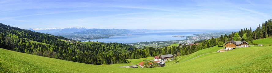 Krajobraz przyrody we wschodnim Bodensee
