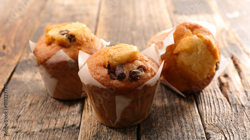 Fotografie, Obraz  muffin with chocolate chip