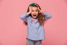 Beautiful Little Girl Reacting...