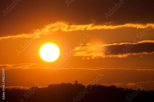 Papiers peints Orange eclat tramonto