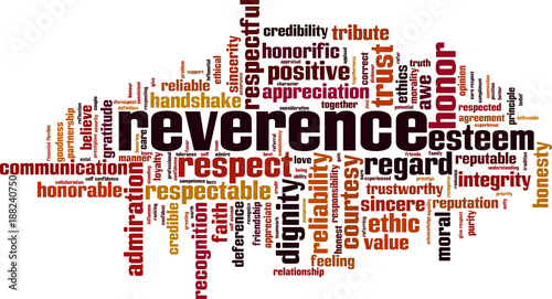 Reverence word cloud Fototapet
