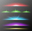 Different color lights on dark background