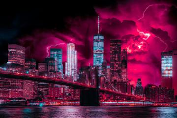 Fototapeta Photo-Art of Stranger Things in New York City