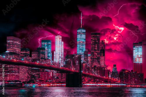 Photo-Art of Stranger Things in New York City Fototapeta