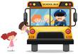 Children riding on school bus