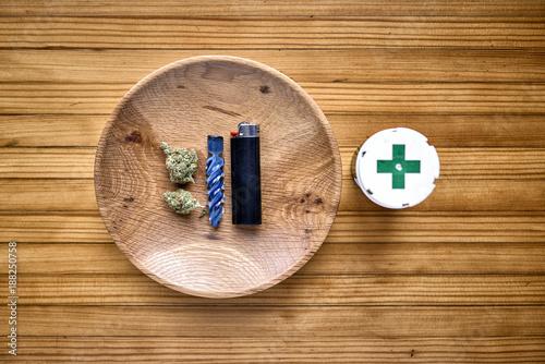 Fotografie, Obraz  medical marijuana and a pipe