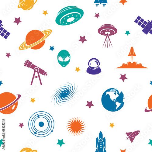 Powtarzalny wzór kosmosu Planet wszechświata Galaxy