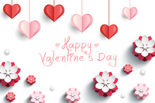 Valentines Card With Decorativ...