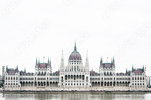 Hungarian parliament in Budapest Fototapeta