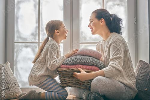 Fotografie, Obraz  Winter portrait of family