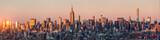 Fototapeta Nowy Jork - New York Skyline Panorama bei Sonnenuntergang, USA