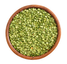 Mung Beans In A Wooden Bowl On...