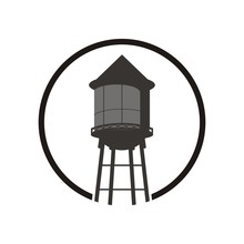 Water Tower Logo Design Templa...