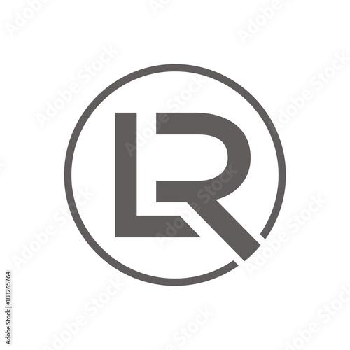RL, LR Logo Initial Letter Design Template Vector