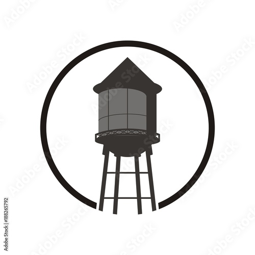 Water tower logo design template vector illustration Fotomurales