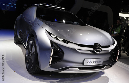 Gac Enverge Electric Concept Car Is Displayed At The North American International Auto Show In Detroit