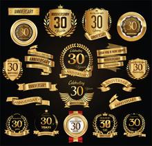 Anniversary Retro Vintage Badg...