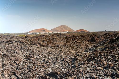 Fotografia  Erkalteter Lavastrom auf Lanzarote, Kanarische Inseln