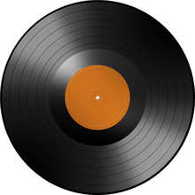 Disque Vinyle Orange