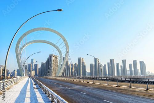 Sanhao Bridge. Located in Shenyang, Liaoning, China. Fototapet