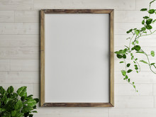 Wooden Free Frame With Green P...