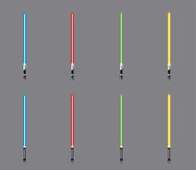 Raccolta Di Spade Laser Colora...