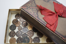 Treaasure Box With Pennies And...