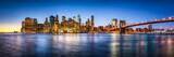 Fototapeta Nowy Jork - New York City skyline Panorama mit Brooklyn Bridge
