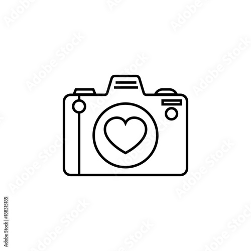 Camera With A Lens Of The Heart Icon Love And Valentines Day