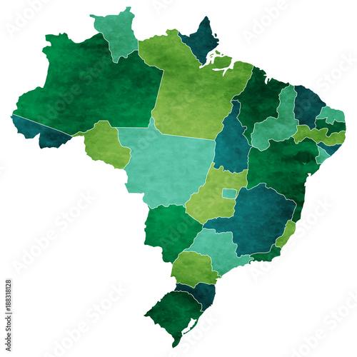 Obraz na plátně ブラジル 地図 国 アイコン