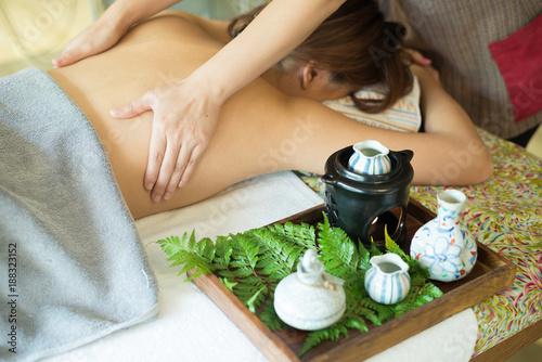 Garden Poster Spa Aromatherapy massage series: Back massage
