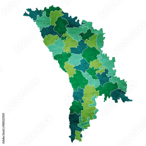 Photo モルドバ 地図 国 アイコン