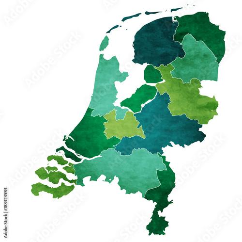 オランダ 地図 国 アイコン Wallpaper Mural