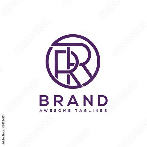 creative letter rr circle logo design elements simple letter rr letter logobusiness corporate