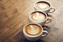 Beautiful Latte Art Coffees On...