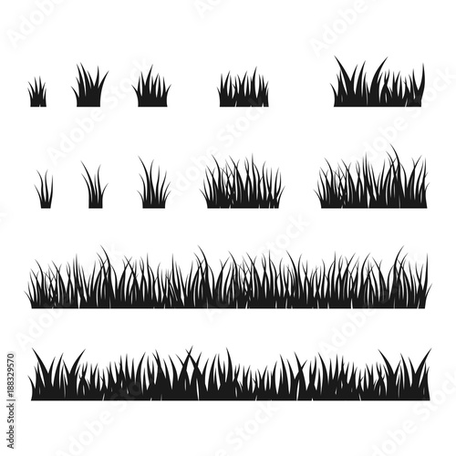 silhouettes of black grass vector set buy this stock vector and explore similar vectors at adobe stock adobe stock silhouettes of black grass vector set