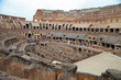 ROMA, ITALY - 01 OCTOBER 2017: Colosseum, Coliseum or Coloseo, Flavian Amphitheatre largest ever built symbol of ancient Roma city in Roman Empire.