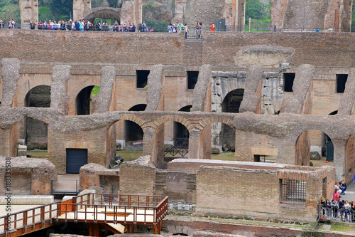 Fotografia, Obraz  ROMA, ITALY - 01 OCTOBER 2017: Colosseum, Coliseum or Coloseo, Flavian Amphitheatre largest ever built symbol of ancient Roma city in Roman Empire