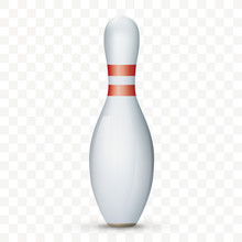 Bowling Pin Transparent