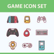 Game Controller Icon Flat Illu...