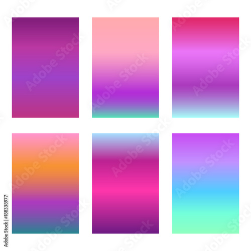 Modern Violet Gradients For Smartphone Screen Backgrounds Set Of Soft Deep Bright Gradiented Wallpaper For Mobile Apps Ui Design Buy This Stock Vector And Explore Similar Vectors At Adobe Stock