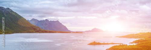 Norwegian fjord ,Lofoten island