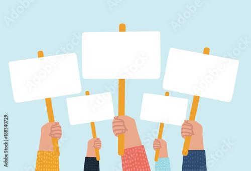Fototapeta Hands holding plate. obraz