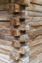 Wood Corner Of A Old Building ...
